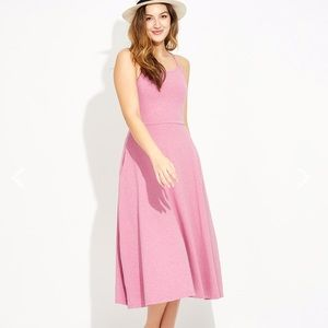 Pact // Fit & Flare Pink Midi Dress